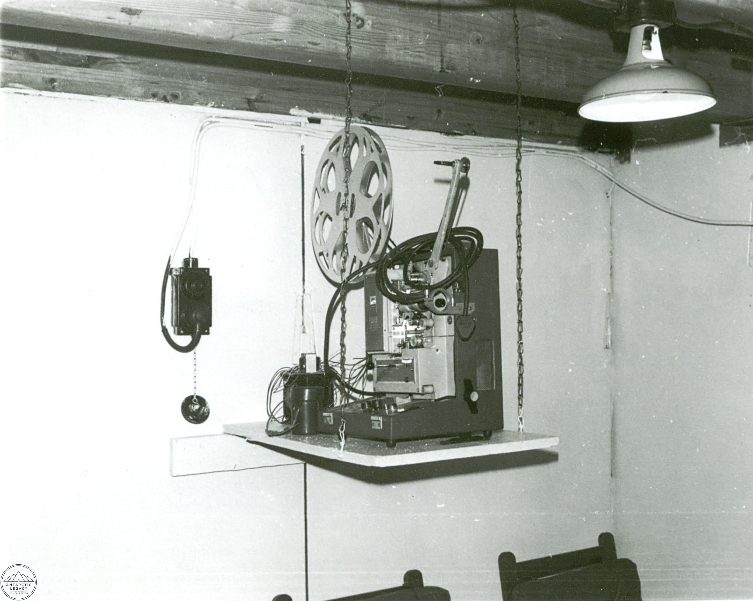 Film projector in the living room