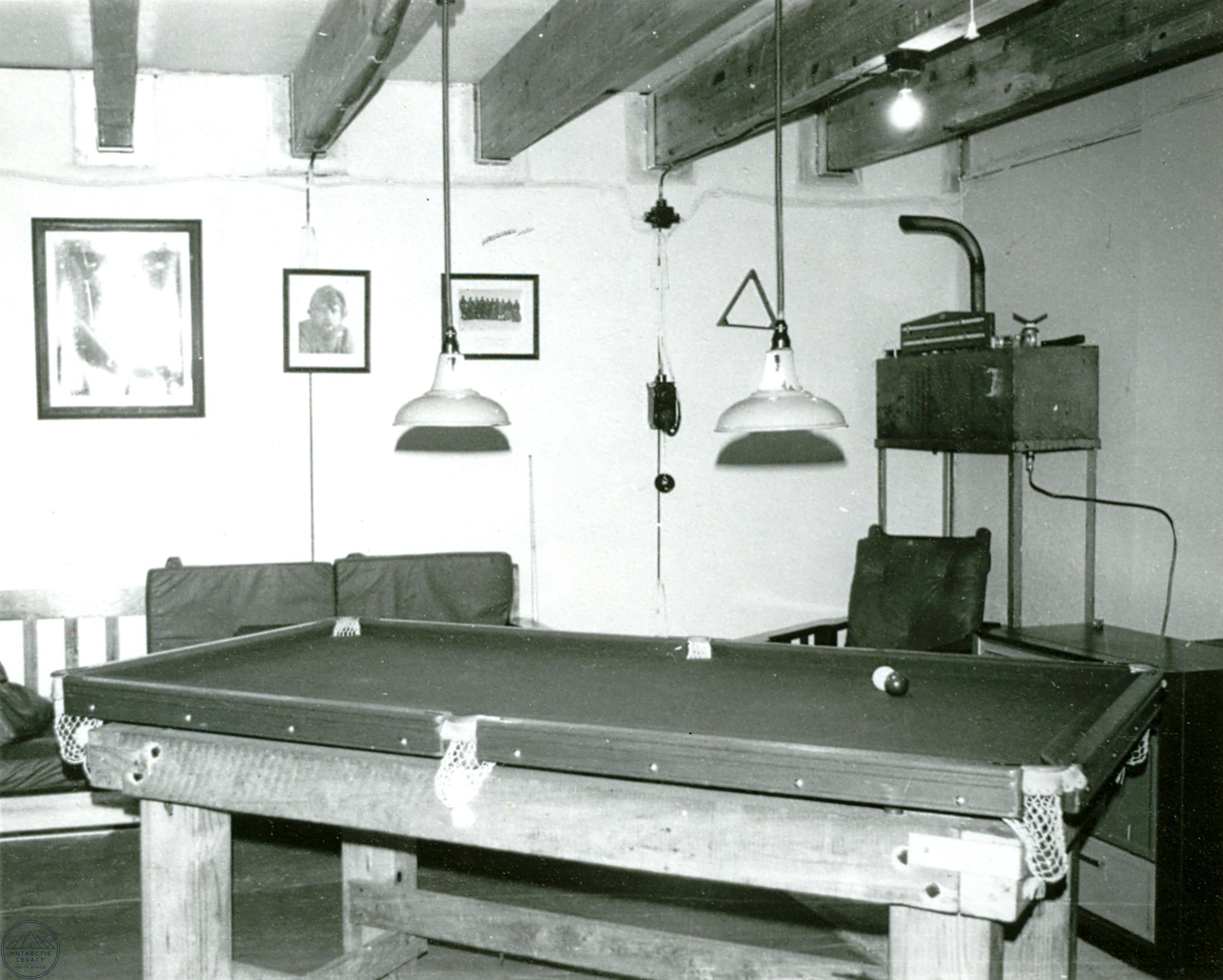 The living room inside SANAE II base